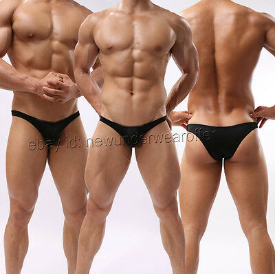 Men Soft Mini Briefs Underwear Comfy Cheeky Bottoms Bikini Thong Underwearpants