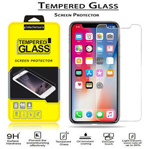 best website 280d9 00c19 Details about For iPhone Xs Max XR XS X Anti-Scratch 9H Film Tempered Glass  Screen Protector