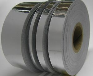 Silver Chrome Vinyl Tape Choose Your Size Adhesive