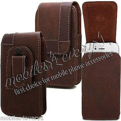 New Stylish Belt Clip Leather Case Cover Pouch For Samsung Galaxy Various Phones