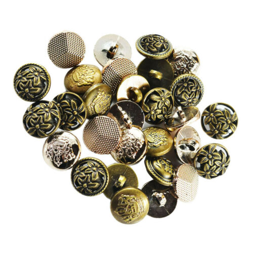 30pcs Vintage Shank Style Fashion Buttons For  Uniforms Hair Bow Ties