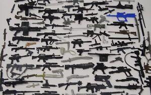 Random-lot-of-20-GI-JOE-Cobra-Ninja-figure-039-s-diffrerent-Accessories-weapons-guns