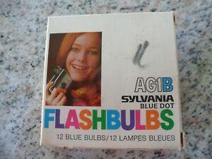 Sylvania Blue Dot Flash Bulbs AG1B 10 Box Flashbulbs Vintage Polaroid Swinger