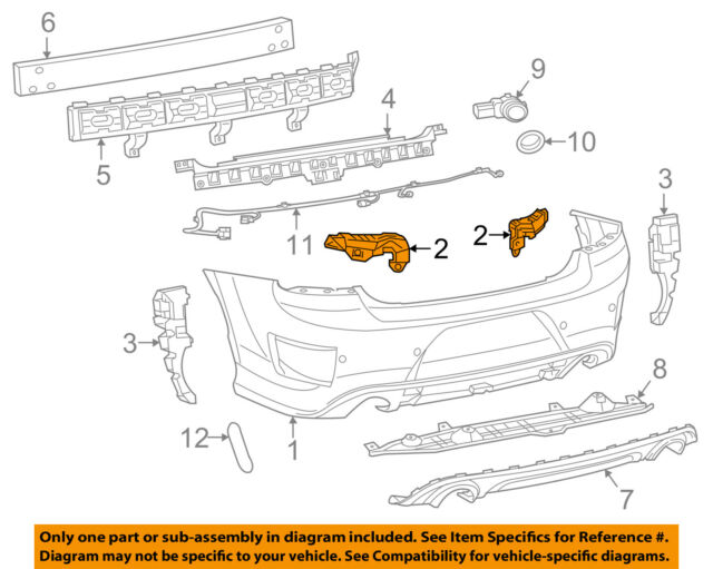Dodge CHRYSLER OEM 15-18 Charger Rear Bumper-Side Support Right 68226562AA