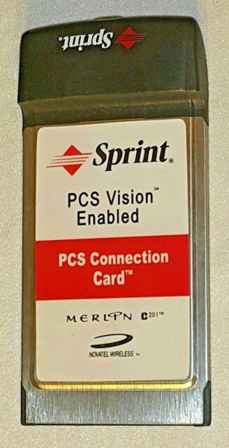 Novatel wireless merlin s620 sprint pcs connection card   ebay.