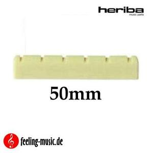 Heriba-Sattel-fuer-Konzertgitarre-Ersatzteil-50mm-breit-vorgekerbt