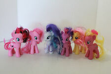 My Little Pony 6 figures smaller size Fluttershy Rarity Pinkie Pie Used