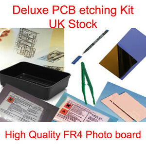 DELUXE-PCB-PHOTO-BOARD-ETCHING-ETCH-SIMPLE-SET-KIT-NEW-UK-STOCK