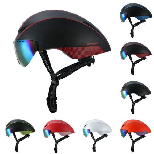 Fahrradhelm Herren /& Damen Mountainbike Rennrad Fahrrad Helm Mit Brille Visier