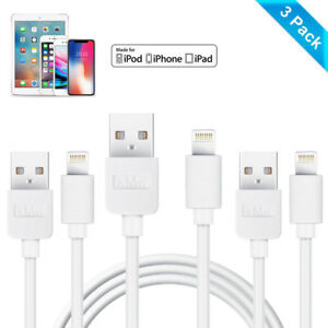 wholesale dealer 77b2d 866c8 Details about 3-Pack 3 Metre USB Charger Sync Data Cable Lead for iPhone  iPad iPod 3m Meter