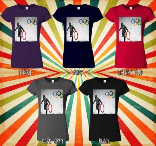 Banksy anti Anneau Olympique voleur Hommes Femmes Long À Manches Courtes Baseball T Shirt 1776