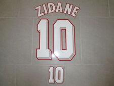 Flocage blanc ZIDANE pour maillot équipe de France bleu 1998 98 patch shirt mok9