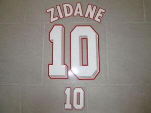 Flocage blanc ZIDANE pour maillot équipe de France bleu 1998 98 patch shirt mo