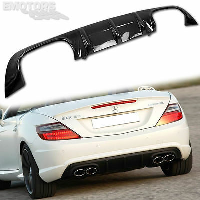Carbon For MERCEDES BENZ SLK R172 Convertible A Type Bumper Rear Diffuser  15 | eBay