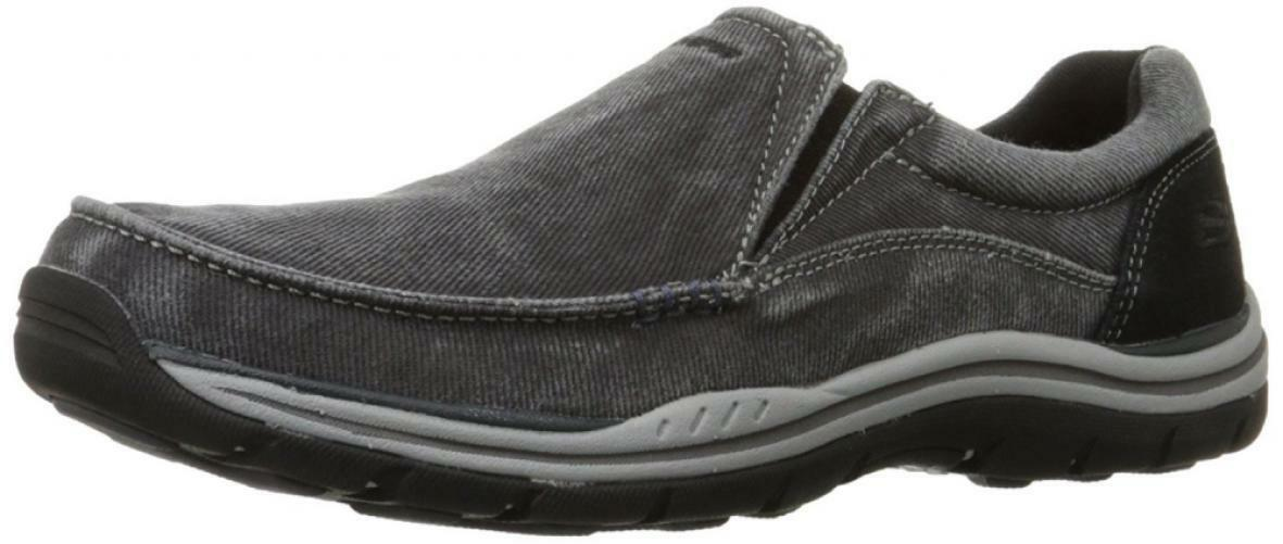 Skechers USA Men's Expected Avillo Relaxed-Fit Slip-On Loafer,Black,11.5 W US