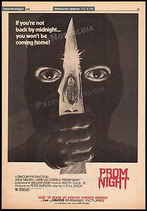 PROM NIGHT__Original 1980 Trade print AD promo / poster__JAMIE LEE CURTIS_horror