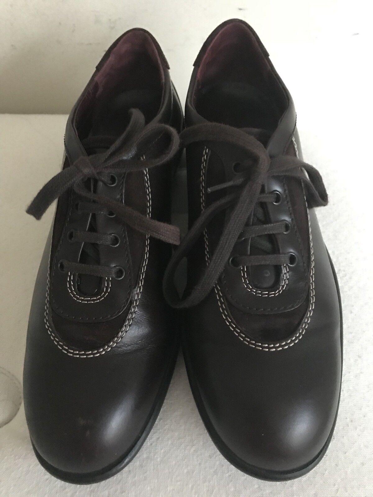 Tod's Wouomo Marronee Leather Fashion scarpe da ginnastica  36  U.S. 6  Made In      545