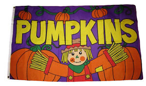 3x5-Advertising-Fall-Pumpkins-Scarecrow-Purple-Flag-3-039-x5-039-Grommets-Autumn