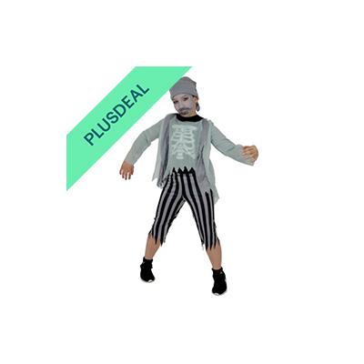 Skelett Zombie Piraten-Kostüm für Kinder Pirat Kinderkostüm Halloween Gr. 110 -
