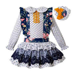 Flower Baby Girls Blouse Top Suspender Skirt Sets Princess Wedding Party  Outfits | eBay