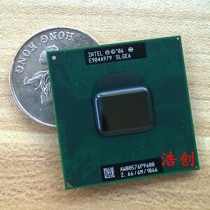 Working-Intel-Core-2-Duo-P9600-2-66GHz-6M-1066MHz-Dual-Core-SLGEE-CPU-Processor