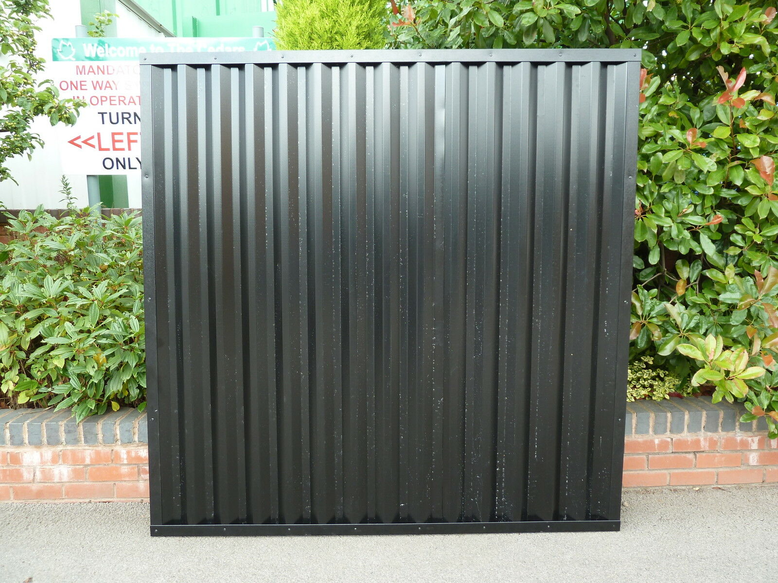 metal fencing panels plastisol coated steel fence panels