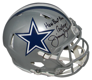 JIMMY-JOHNSON-SIGNED-DALLAS-COWBOYS-FULL-SIZE-AUTHENTIC-SPEED-HELMET-BECKETT