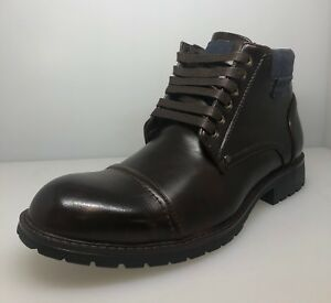Mens-Cap-Toe-Ankle-Dress-Derby-Boots-Lace-Up-Modern-Casual-Footwear-Charlie