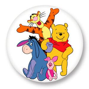 Pin Button Badge Ø38mm Tigrou Tigger Winnie l/'ourson Winnie The Pooh Disney
