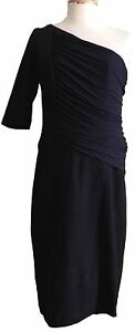 Black-Cocktail-Dress-BCBG-MAX-AZRIA-Womens-Size-8-10-NWT-One-Shoulder