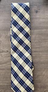 CHAPS mens Classic Woven Check Plaid Tie Necktie