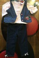 ��3 Pc Set�� Baby Girl�� Shirt, Vest & Pants ��Sz 12 Mos��