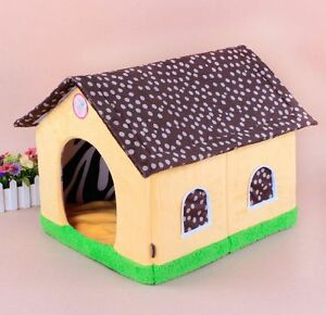 New dots roof pet dog cat soft house bed cat fade house for Dog bed roof