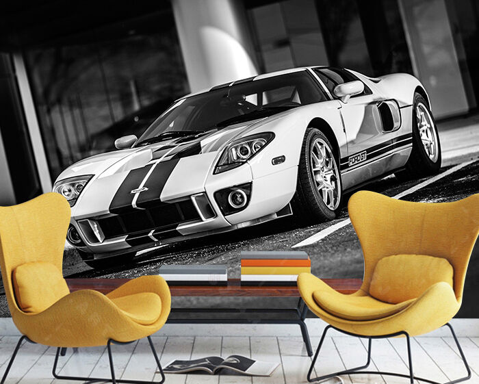 3D Luxury sports car 445 Wall Paper Print Wall Decal Deco Indoor Wall Murals