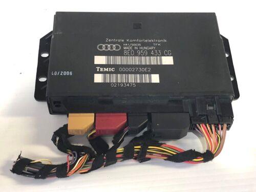 8E0 959 433 CG OEM ! 2005-2008 Audi A4 S4 Comfort Body Control Module Unit P