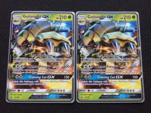 Pokemon x2 GOLISOPOD GX 2017 WORLD CHAMPIONSHIPS NON HOLO PROMO CARD NM//MINT