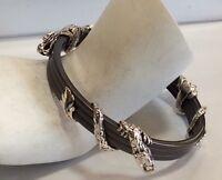 John Hardy 3 Station Sterling Silver Naga Dragon Bangle Bracelet $695