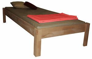 futonbett buche 160x200 echtholzbett doppelbett bett jugendbett neu. Black Bedroom Furniture Sets. Home Design Ideas