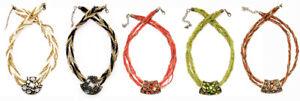 Kette-Modeschmuck-Amulett-Halskette-Anhaenger-rot-goldfarben-Perlen-Strass-Orient
