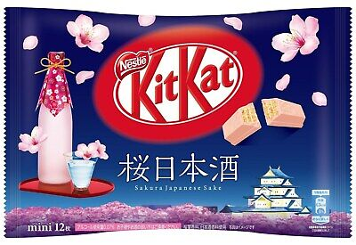 Responsible 12nestle Kitkat Kit Kat Japan Sakura Sake Nihonshu 1bag 12pieces Japanese F/s