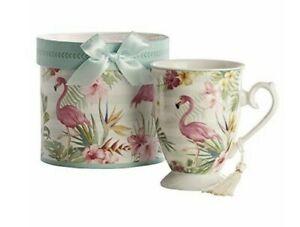 Pink Flamingo Mug Teacup Coffee Retro GiftCraft New