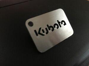 Kubota-Stainless-Steel-Keyring-Tractor-Digger-Lawn-Mower