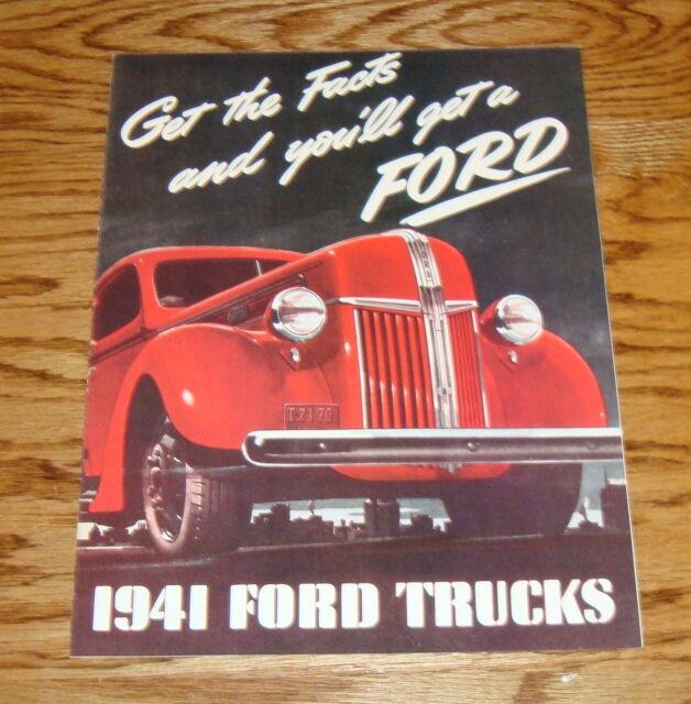 1941 Ford Truck Foldout Sales Brochure 41