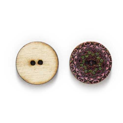 50pcs Retro series Wooden Buttons Scrapbook Sewing Clothing Crafts Handmade DIY
