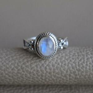 Moonstone Ring 925 Sterling Silver Ring Handmade Ring Worry Ring All Size KA-33