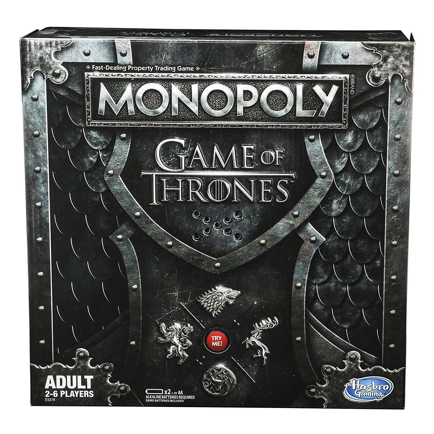 HASBRO MONOPOLY MONOPOLY MONOPOLY GAME OF THRONES BOARD GAME FOR