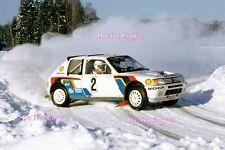 El Señor Vatanen nos Peugeot 205 Turbo 16 Ganador Rally sueco 1985 fotografía 2