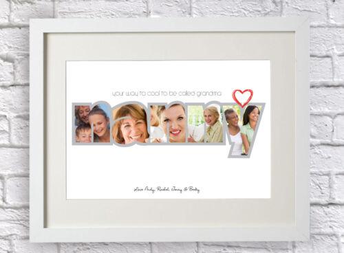 Personalised Happy Birthday Nanny Photo Print Bespoke Nan Nanna Xmas Mothers Day