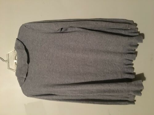Grey Size Cardigan Ann Women Petites Taylor Ruffle Trim Sp Loft Sweater tAzPwqa