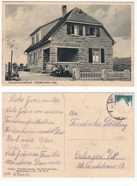 Heidenheim a.d. Brenz, Naturfreunde Haus um 1930
